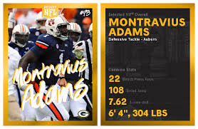 round 3 pick 29 montravius adams dt auburn green bay packers