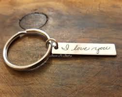 in memory of keychains handwriting keychain etsy