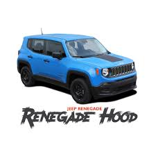 jeep decal jeep renegade hood trailhawk style center hood blackout decal