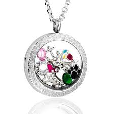 necklace with photo pendant images Zysta 25mm 316 stainless steel silver matte round jpg