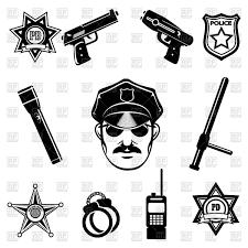 police symbols icon set vector clipart image 67248 u2013 rfclipart