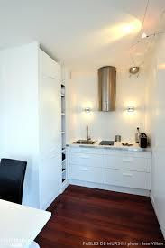 cuisine de ouf une cuisine blanche moderne avec parquet foncé au sol