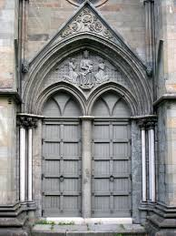 door at nidaros cathedral in trondheim norway founded c 1070