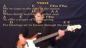 thanksgiving prayer johnny bass guitar cover lesson with