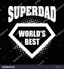 super dad logo superhero worlds best stock vector 658253263