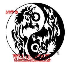 yin yang wolves frisbee design by wildspiritwolf on deviantart