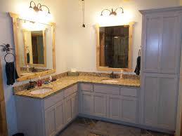 Menards Bathroom Cabinets Wondrous Corner Bathroom Vanity Menards With White Wash Cabinet