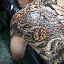 40 phoenix back tattoo designs for men flaming bird ideas