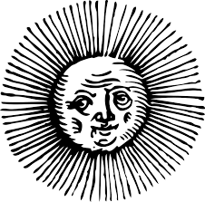 free vector graphic sun sketch eyes face sunshine free