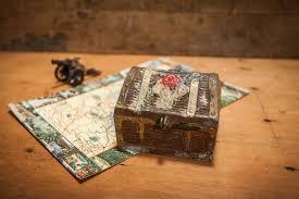 vintage cast metal treasure chest bank toy bank pirate treasury