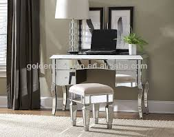 Glass Vanity Table With Mirror Enchanting Glass Vanity Table With Mirror With Bedroom Furniture