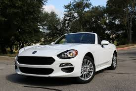 fiat spider white 2017 fiat 124 spider classica test drive review autonation drive