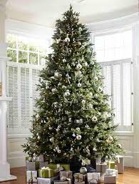 fraser fir and silver bells tree decorating ideas with