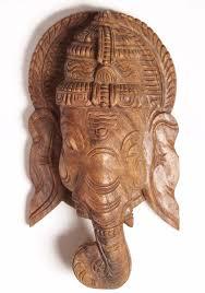 sold wooden wall hanging of lord ganesha 12 76w55z hindu gods