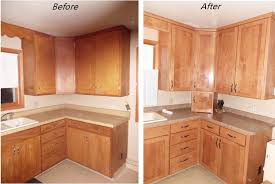 Gel Stained Cabinets Before And After Staining Kitchen Cabinets Before And After Pictures Memsaheb Net