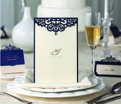 Laser Cut Invitation Cards Aliexpress Com Buy Laser Cut Blue Wedding Party Invitation Cards