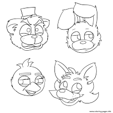 five nights at freddys fnaf bonnie foxy mangle coloring pages