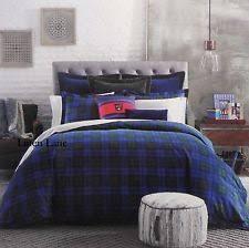 tommy hilfiger plaid flannel duvet covers u0026 bedding sets ebay