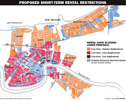 Map New Orleans by Proposed Caps Would Allow 15 000 New Orleans Homes To Be Rented To