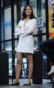 dress gal gal gadot stuns in mini dress at aol event in new york daily