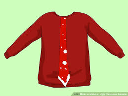 3 ways to make an ugly christmas sweater wikihow
