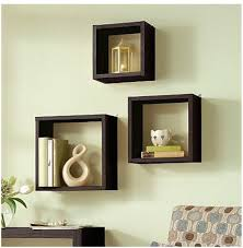 trendy and cathy your home interior with wall shelf cube design