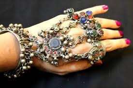 bracelet style images 5 ring chains kuchi afghan style metal bracelet waazeer jpg