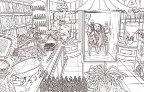 harry potter coloring book dives deep wizarding