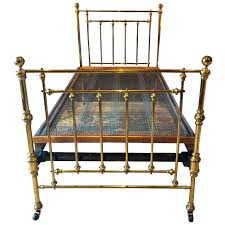 Brass Bed Frames Antique Bed Single Brass Bed 19th Century Base Casters