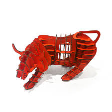 aliexpress com buy 3d puzzle wall street bull model toy kids