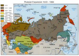russia map border countries territorial evolution of russia