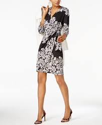 inc international concepts printed faux wrap dress created for