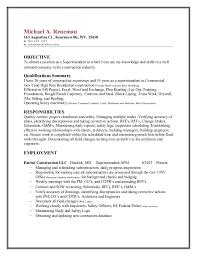 Construction Superintendent Resume Sample by Reneman Superintendent Resume