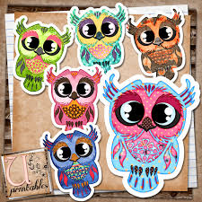 rebeccab designs free printable owls patterned