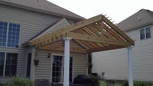 Pergola Rafter End Designs by Gable Style U0027 Pergola With Double Rafters By Archadeck Youtube