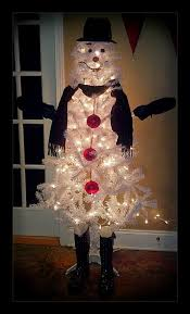 make a snowman out of a christmas tree craft projects for every