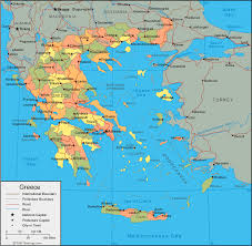 greece map political greece map and satellite image