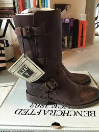 brown moto boots best frye jayden moto cuff leather boots size 8 for sale in