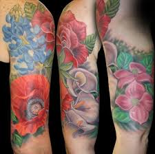 floral half sleeve tattoos for fashion and lifestyles