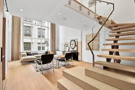 Apartment Stairs Design Interior Design Of A Duplex Apartment In New York