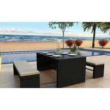 Harmonia Living Skyline  Piece Dining Set  Reviews Wayfair - Skyline outdoor furniture