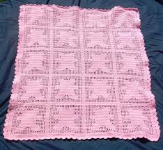 crochet heart baby blanket quilt afghan shower personalized