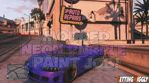 gta v online neon purple paint color on any car secret slate