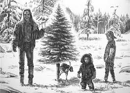 christmas cards pencil drawings pencil art western artwork by