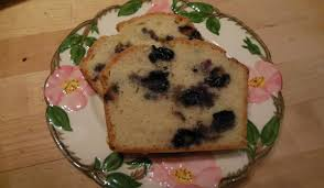 scallops pesto homemade bread and blueberry pound cake tim