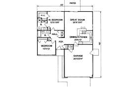 ranch style house plan 2 beds 2 00 baths 1100 sq ft plan 116 171