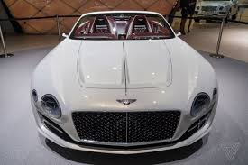 white bentley back bentley challenges tesla u0027s idea of electric luxury with a gorgeous