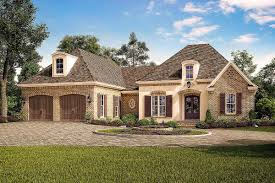 exclusive acadian french country house plan with vaulted rear