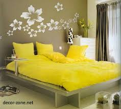 Color Combination With White Modern Bedroom Designs In A Yellow Color