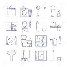 bathroom icon set collection of high quality outline vector